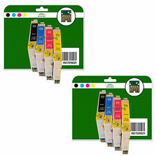 8 Ink Cartridges for Epson D68 D68 D88 DX4200 non-OEM E611-4