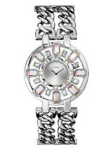 NEW GUESS RADIANT GLAMOUR SILVER TONE,CRYSTAL,CHAIN LINK BRACELET WATCH-U0082L2