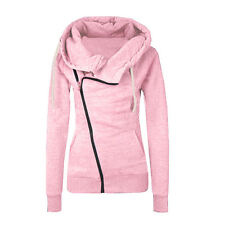 Women's Winter Zip Up Jumper Tops Hoodie Hooded Sweatshirt Pullover Coat Jackets