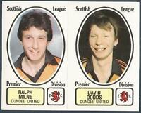PANINI FOOTBALL 82 #457-A-B-DUNDEE UNITED-RALPH MILNE / DAVID DODDS