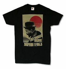 THELONIOUS MONK JAPAN BLACK SLIM FIT T-SHIRT NEW OFFICIAL JAZZ MUSIC ADULT SMALL