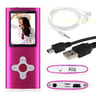 "New 8GB Slim Digital MP3 MP4 Player 1.8"" LCD Screen FM&Radio Video Games Movie"