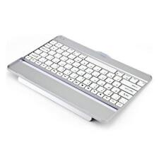 White/Silver Slim Aluminum Wireless Bluetooth Keyboard Case for iPad 5 iPad Air