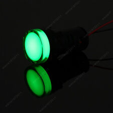 New 2PCS Green 22mm 12V LED Indicator Power Signal Light