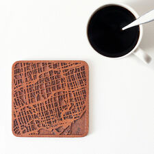 Toronto map coaster One piece  wooden coaster Multiple city IDEAL GIFTS