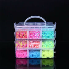 STORAGE BOX w/4500 RUBBER BANDS REFILL ORGANIZER MULTI COLORS RAINBOW (LOOM CASE