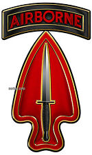 Army Special Operations Command (Airborne) (USASOC or ARSOC) All Metal Sign 18""