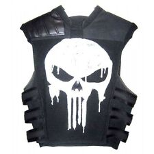 Thomas Jane Punisher War Tactical Black Leather Vest Jacket Costume