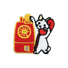 Make a phone call Cute Cat Patch Pet Patch Iron on Patches