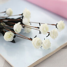 15 Head PE Artificial Small Rose Silk Bouquet Wedding Flowers Home Decoration  .
