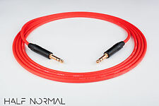 """10' Canare L-4E6S Quad Balanced Cable Neutrik Gold 1/4"""" TRS to 1/4"""" TRS Red"""