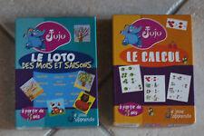 @ Juju : 2 jeux - Le loto des mots et saisons - Le Calcul  - 3 et +