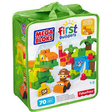 MEGA BLOKS FIRST BUILDERS BUILD A DINOSAUR 70 PCS IN BAG *NEW*