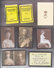 REPRODUCTION PRINCESS MARY CHRISTMAS TIN SET WITH 1915 NEW YEAR CARD (NEW LOOK)