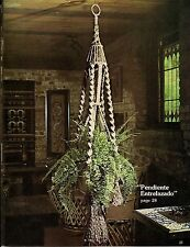 Macrame Large Plant Hanger Pattern - Craft Book: # SL1 Spanish Lace - Rare Decor