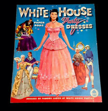 Vintage 1961 White House Party Dresses Paper Dolls Colonial Original Uncut