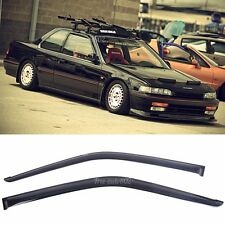 2Pcs Window Visors Sun Vent Guard Wind Deflector For 90-93 Honda Accord 2Dr