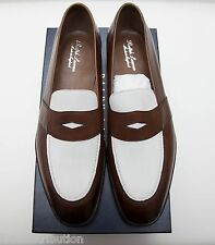 NEW Ralph Lauren Tarlton Made In England Edward Green Loafer Brown White 11D