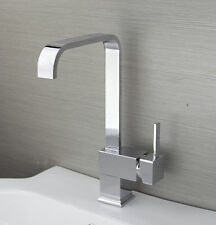 Contemporary Kitchen Sink Faucet Single Handle Chrome Finish Mixer Tap LK 36