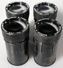 7 INCH F/3.5 BAUSCH   LOMB MATCHED SET OF 4 LENSES