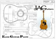 Project Plan/Drawing to build this Dreadnougt Acoustic guitar  Ideal Gift