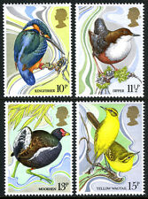 Great Britain 884-887, MNH. Birds. Kingfisher,Dipper,Moorhen,Yellow wagtail,1980