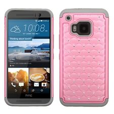 Pearl Pink/Gray FullStar Phone Protector Cover Case for HTC One M9