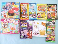 9 PCS SET Kracie Meiji DIY Japanese Candy Making Kit Popin Cookin Sushi Japan