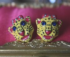 ♡ Betsey Johnson Viva La Betsey Tiger Day Of the Day Mask Statement Earring