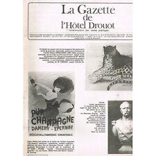 La GAZETTE de l'Hôtel DROUOT 1981 N°35 Antiquité Egypte Grèce Rome Dessin Ivoire