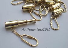 Lot Of 100 Pcs Vintage Solid Brass Telescope Keychain Corporate Gift Item