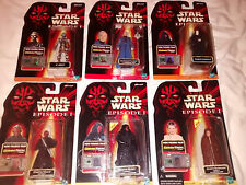LOT 6 of STAR WARS FIGURES EPISODE 1 Darth Maul Darth Sidious Anakin Comm Tech