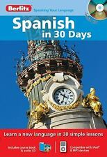 Spanish in 30 Days (English and Spanish Edition), Berlitz, New Books