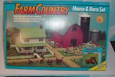 Ertl Farm Country Toy Deluxe House & Barn & Silo & Bin & Tractor Set MIP 1/64!!