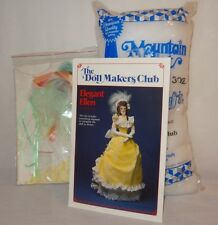 "New Elegant Ellen The Doll Makers Club 1989 14"" Sewing Kit U.S.A. Victorian"