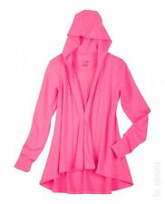 New La Senza Mini French Terry Hoodie Robe Pink Size S / M RRP £27.00 Box1027 a