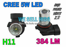 FOG LIGHT Bulbs H11 White CREE LED Match Xenon HID AUDI A3 A4 A6 S3 VW GOLF MK5
