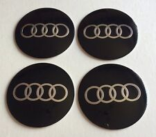 AUDI Wheel Centre Hub Cap Badges Emblems Stickers 57mm full Set of 4 A2 A3 A4 A5