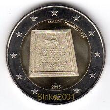 2 EURO COMMEMORATIVO MALTA 2015 Proclamazione Repubblica
