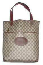 Authentic Vintage GUCCI Web Tote Laptop Bag Shopper Purse Handbag