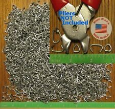 """500pcs USA made 1/2"""" Galv Hog Rings for Netting Attachment Fences Car Upholstery"""