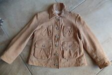 BANANA REPUBLIC Camel 100% leather 3/4 Sleeve Jacket XS