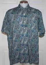 MAUS & HOFFMAN / LIBERTY OF LONDON MEN SHIRT BUTTON FRONT XL PAISLEY