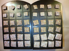 Joblot of 24 pairs  Square Diamante stud Earrings - NEW Wholesale