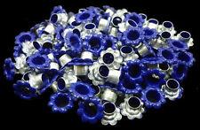 100pcs Navy Blue Flowers EYELETS Scrapbooking CARD Hole LeatherCraft Punch E056