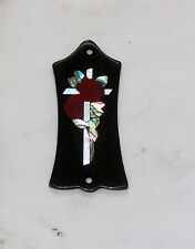 Truss Rod Cover with Cross & Roses Inlay will fit Gibson