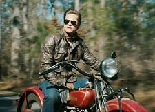Brad Pitt Panther Motorcycle Riders Leather Jacket
