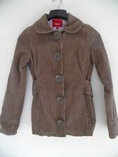 Women's Mossimo Brown corduroy Snap On Button jacket coat Size Medium