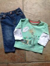 Baby Boy's Clothes 6-9 Months - 2-Piece Top & Jeans Outfit/Set