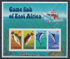 D.  Fische  Meerestiere  Tansania  Block 4   **  (mnh)